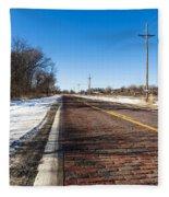 Lincoln Highway Fleece Blanket
