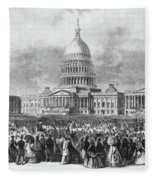Lincoln Inauguration, 1865 Fleece Blanket
