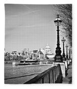 London View From South Bank Fleece Blanket