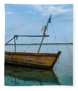 Lonely Boat Fleece Blanket