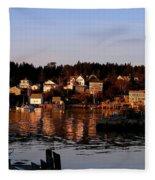 Looking East Fleece Blanket