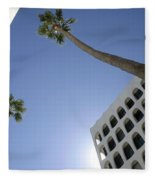 Looking Up In Beverly Hills Fleece Blanket