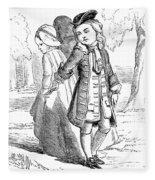 Love Lyrics And Valentine Verses, 1875 Fleece Blanket