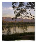 Lower Otay Lake - California Fleece Blanket