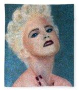 Madonna The Early Years Fleece Blanket
