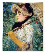 Manet's Spring Fleece Blanket