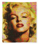 Marilyn Monroe - 100 Dollars Fleece Blanket