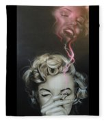 Marilyn's Crimson Haze Fleece Blanket