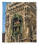Mechanical Clock In Munich Germany Fleece Blanket