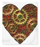 Mechanical Heart Fleece Blanket