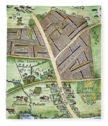 Medieval English Manor Fleece Blanket