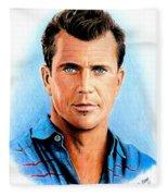 Mel Gibson Fleece Blanket