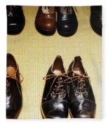 Mens Fine Italian Leather Shoes Fleece Blanket