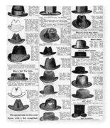 Men's Hats, 1895 Fleece Blanket