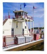 Merrimac Ferry - Wisconsin Fleece Blanket