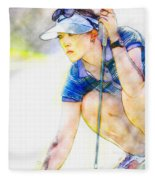 Michelle Wie - Third Round Of The Lpga Lotte Championship Fleece Blanket