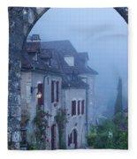 Misty Dawn In Saint Cirq Lapopie Fleece Blanket