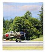 Mitsubishi A6m3-22 Reisen Zero Fleece Blanket
