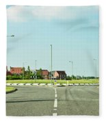 Modern Road Fleece Blanket