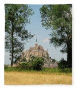 Mont St. Michel Fleece Blanket