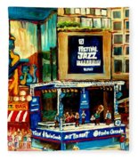 Montreal International Jazz Festival Fleece Blanket