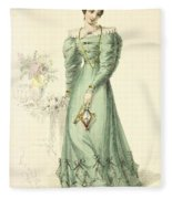Morning Dress, Fashion Plate Fleece Blanket