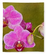 Moth Orchid Fleece Blanket
