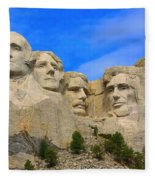 Mount Rushmore South Dakota Fleece Blanket