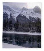Mountain Sunset Christmas Canmore, Alberta Fleece Blanket
