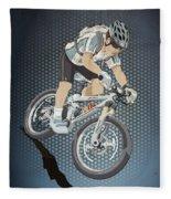 Mountainbike Sports Action Grunge Color Fleece Blanket