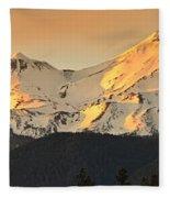 Mt. Shasta Sunset Panorama Fleece Blanket