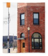 Munising Michigan - City Hall Fleece Blanket