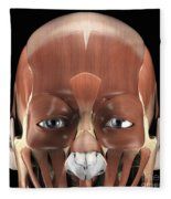 Muscles Of The Face Fleece Blanket