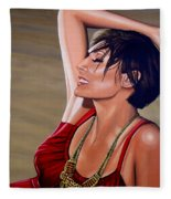 Natalie Imbruglia Painting Fleece Blanket