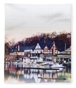 On Boathouse Row Fleece Blanket
