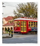 New Orleans Streetcar Fleece Blanket