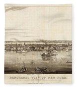 New York City, 1840 Fleece Blanket