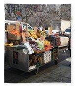 New York Street Vendor Fleece Blanket