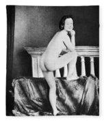 Nude Posing, C1850 Fleece Blanket