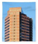 Office Building Fleece Blanket