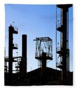 Oil Refinery Fleece Blanket
