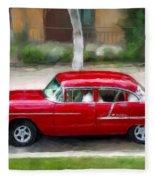 Red Bel Air Fleece Blanket