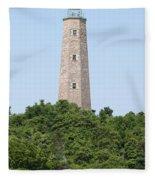 Old Cape Henry Lighthouse Fleece Blanket