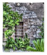 Old City Jail Window Fleece Blanket