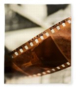 Old Film Strip And Photos Background Fleece Blanket
