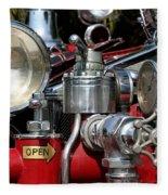 Old Fire Truck Fleece Blanket