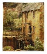 Old Mill In Arkansas Fleece Blanket