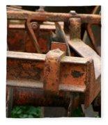 Old Mowing Machine Fleece Blanket