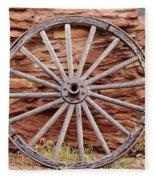 Old Wagon Wheel 2 Fleece Blanket