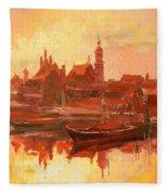 Old Warsaw - Wisla River Fleece Blanket